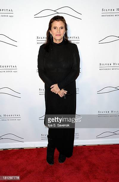 Actress and author Carrie Fisher attends the 2011 Silver Hill Hospital gala at Cipriani 42nd Street on November 3 2011 in New York City
