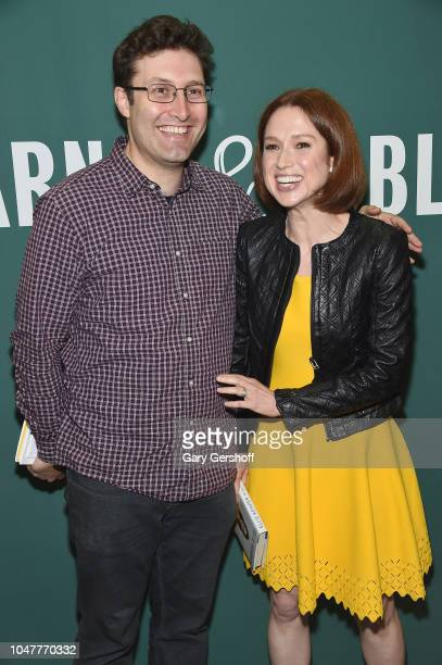 Actress and author Ellie Kemper attends a signing of her new book 'My Squirrel Days' with husband, writer/producer Michael Koman at Barnes & Noble...