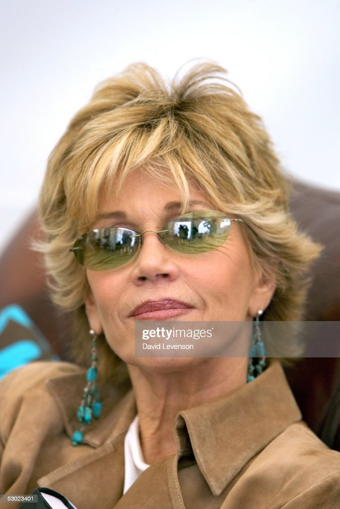 Actress and author Jane Fonda poses for a portrait at 'The Guardian Hay Festival 2005' held at Hay on Wye on June 5, 2005 in Powys, Wales. Fonda is promoting her new book 'My Life So Far.'