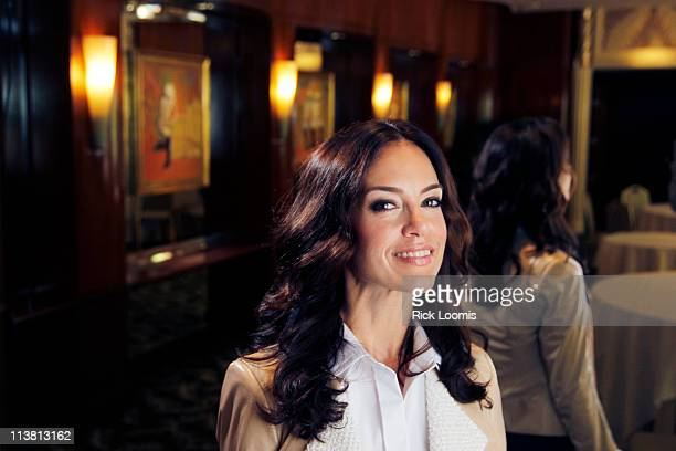 Actress and author Jennifer Grant the daughter of actors Cary Grant and Dyan Cannon is photographed for Los Angeles Times on April 19 2011 in Beverly...