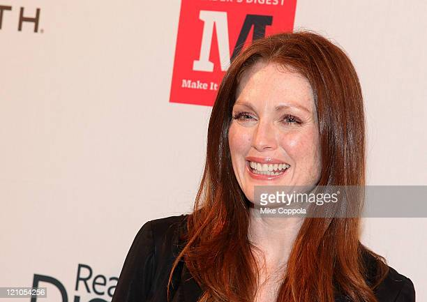Actress and author Julianne Moore attends Reader's Digest Make It Matter Day Event in Support of Literacy and Education at the New York Public...
