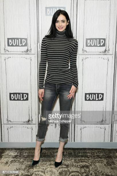 Actress and author Krysten Ritter discusses her new book 'Bonfire' at Build Studio on November 8 2017 in New York City