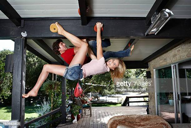 Actress and author Mariel Hemingway and Bobby Williams are photographed in her home for Self Assignment on August 29 2011 in Los Angeles California