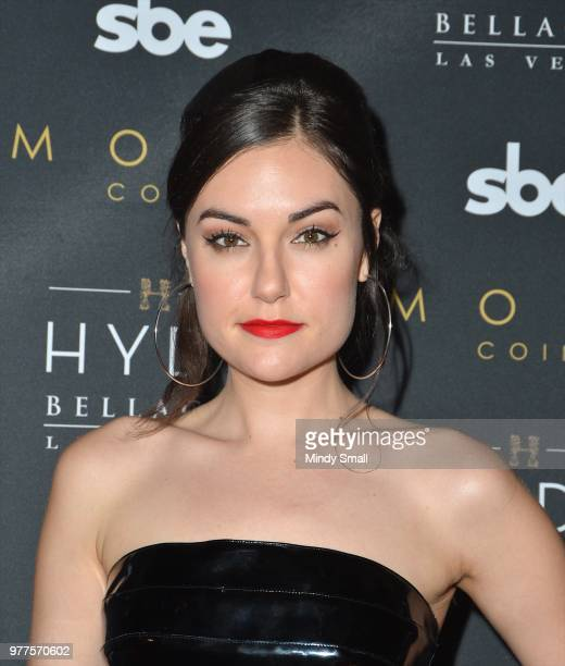 Actress and author Sasha Grey arrives at Hyde Bellagio at the Bellagio to DJ at the 'Stereo Hyde' party on June 18 2018 in Las Vegas Nevada