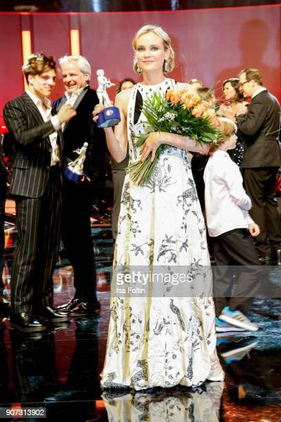 actress and award winner Diane Kruger attends the Bayerischer Filmpreis 2017 at Prinzregententheater on January 21 2018 in Munich Germany