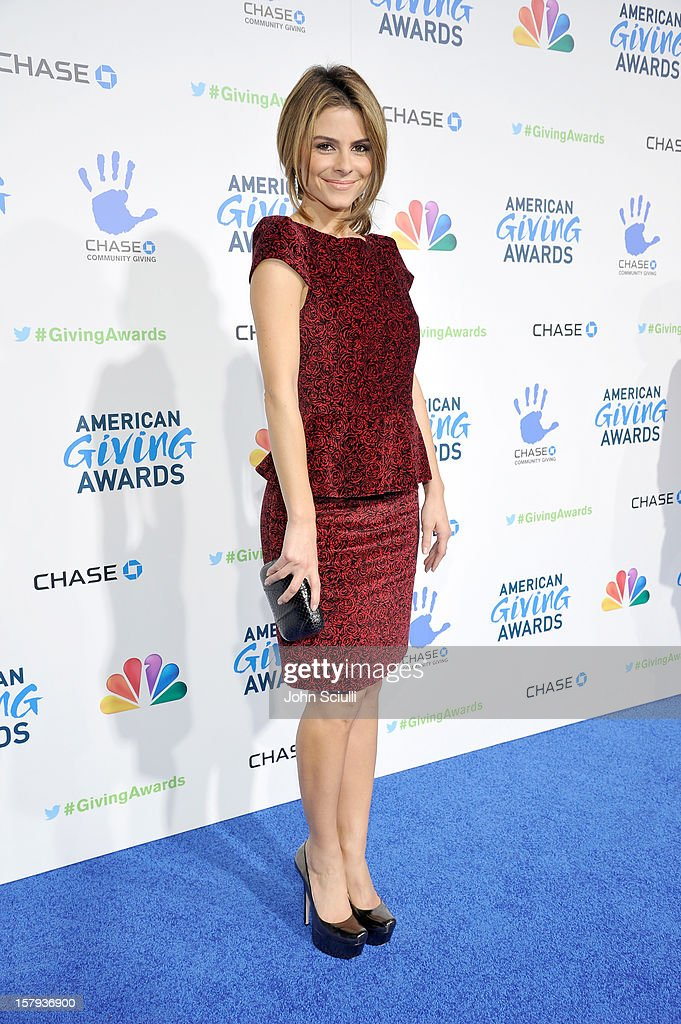 Actress and backstage correspondent, Maria Menounos arrives at the American Giving Awards presented by Chase held at the Pasadena Civic Auditorium on December 7, 2012 in Pasadena, California.