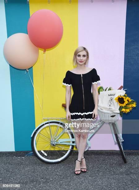 Actress and Belletrist cofounder Emma Roberts attends Domino x American Express Platinum on August 4 2017 in Bridgehampton New York