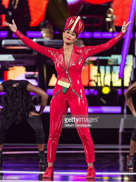 Actress and BET Black Girls Rock 2016 host Tracee Ellis Ross on stage during BET Black Girls Rock 2016 at New Jersey Performing Arts Center on April...