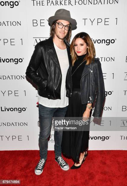 Actress and Beyond LA Host Committee Ashley Tisdale and composer and Beyond LA Host Committee Christopher French attend the Beyond LA Cocktail Party...