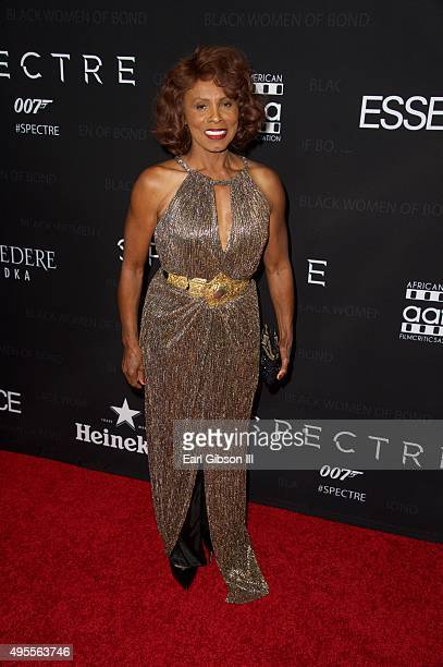 Actress and Bond Girl Gloria Hendry attends SpectreThe Black Women Of Bond at California African American Museum on November 3 2015 in Los Angeles...