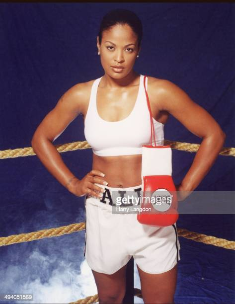 Actress and boxer Laila Ali poses for a portrait in 2001 in Los Angeles California