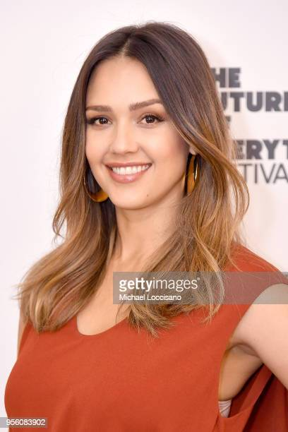 Actress and businesswoman Jessica Alba attends WSJ's The Future of Everything Festival at Spring Studios on May 8 2018 in New York City
