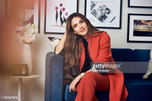 Actress and businesswoman Jessica Alba is photographed at the Honest Company Offices for Architectural Digest on March 20 2017 in Los Angeles...