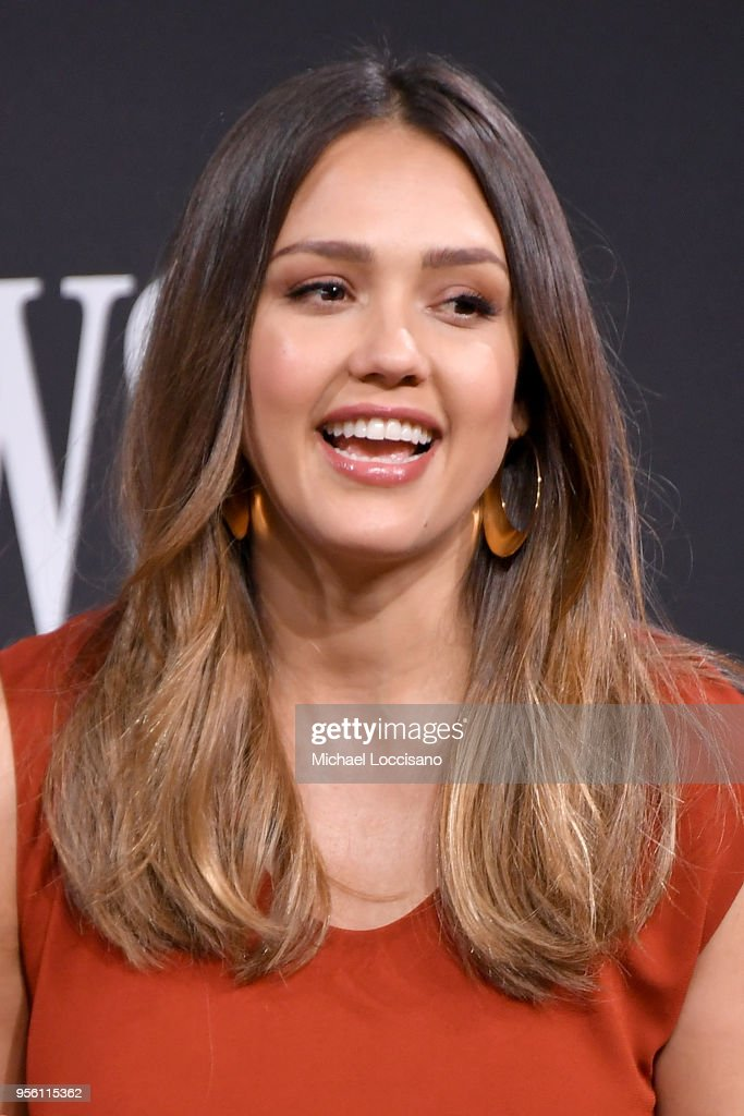 Actress and businesswoman Jessica Alba takes part in a panel during WSJ's The Future of Everything Festival at Spring Studios on May 8, 2018 in New York City.