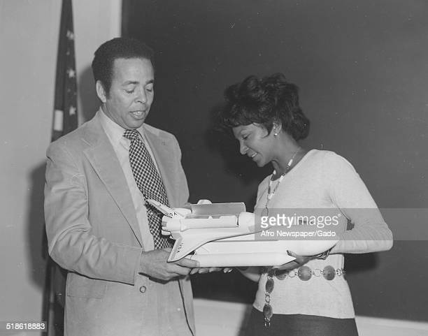 Actress and castmember of the Star Trek telvision series Nichelle Nicholas and National Aeronautics and Space Administration employee Isaac Gillam...