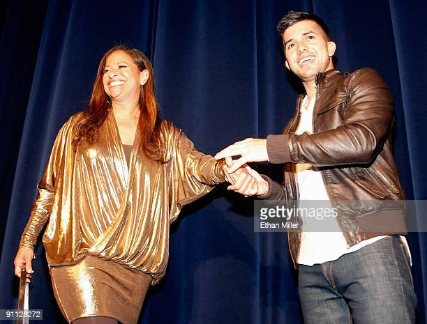 Actress and choreographer Debbie Allen and actor Walter Perez are introduced at a screening of 'Fame' at the Paris Las Vegas September 24 2009 in Las...
