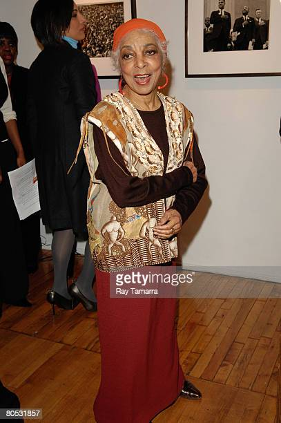 Actress and civil rights activist Ruby Dee attends an event to read from Dr Martin Luther King Jr's Beyond Vietnam speech at Bob Adelman's...