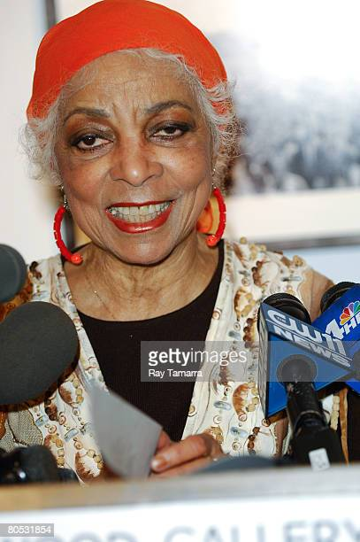 Actress and civil rights activist Ruby Dee reads from Dr Martin Luther King Jr's Beyond Vietnam speech at Bob Adelman's photography exhibit at the...