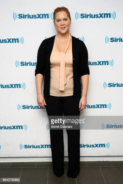 Actress and comedian Amy Schumer visits the SiriusXM Studios on April 10 2018 in New York City
