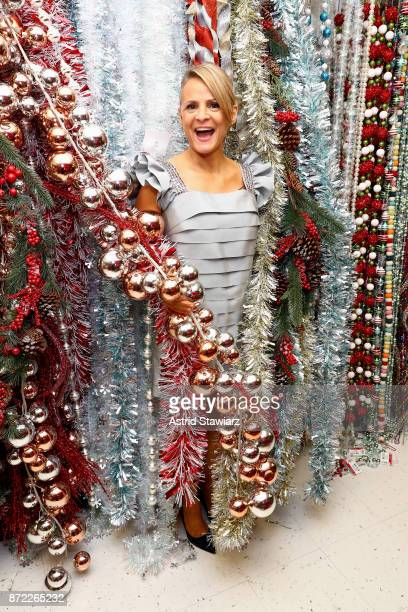 Actress and comedian Amy Sedaris at the launch of the Michaels Faux Tree Farm popup on November 9 2017 in New York City