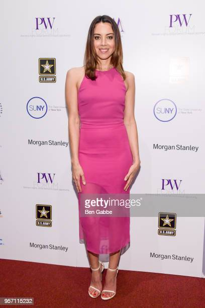 Actress and comedian Aubrey Plaza attends the Moves PW Forum at SUNY Global Center on May 10 2018 in New York City