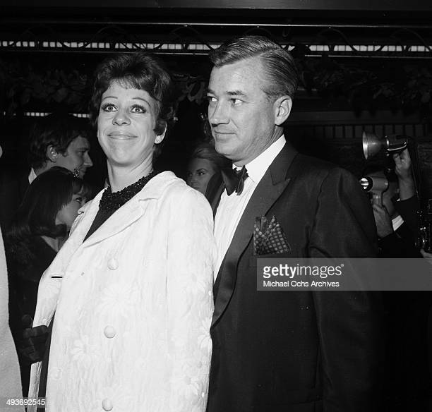 Actress and comedian Carol Burnett with husband producer Joe Hamilton attend a party in Los Angeles California