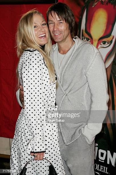 Actress and comedian Janine KunzeBudach and her husband Dirk Budach arrive for the Dralion Cirque de Soleil circus premiere August 30 2006 in Berlin...