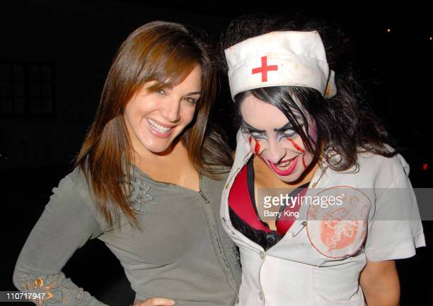 Actress and comedian JillMichele Melean attends the final night of Knott's Scary Farm's 36th Annual Halloween Haunt on November 1 2008 in Buena Park...