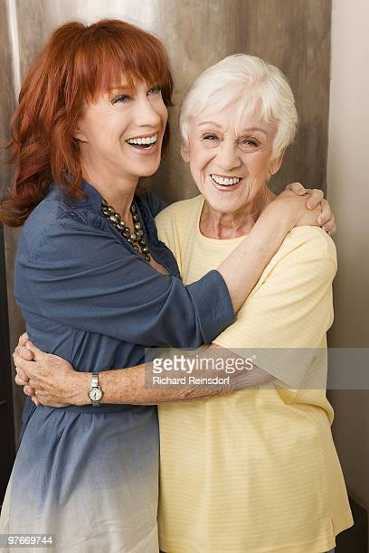 Actress and comedian Kathy Griffin and mother Maggie Griffin pose at a portrait session for In Touch Weekly in Los Angeles CA on February 16 2009