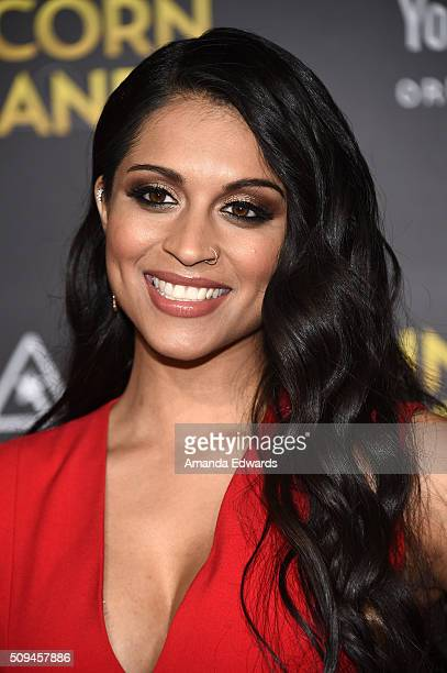 Actress and comedian Lilly Singh arrives at the premiere of A Trip To Unicorn Island at TCL Chinese Theatre on February 10 2016 in Hollywood...