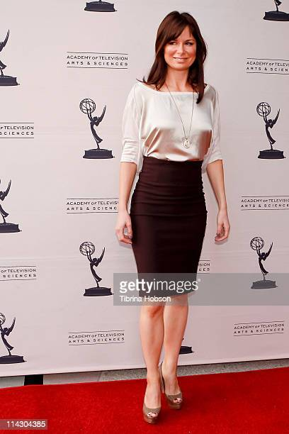 Actress and comedian Mary Lynn Rajskubin arrives at Leonard H Goldenson Theatre for the Academy Of Televsion Arts And Science's A Conversation With...