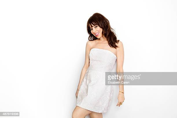 Actress and comedian Natasha Leggero is photographed for Self Assignment on April 15 2015 in Santa Monica California