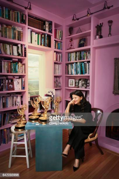 Actress and comedian Tracey Ullman is photographed for Emmy Magazine on December 11 2012 in Pacific Palisades California