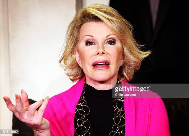 Actress and Comedien Joan Rivers takes part in a photocall for her new play 'A Work in Progress by a Life in Progress' at the Leicester Square...