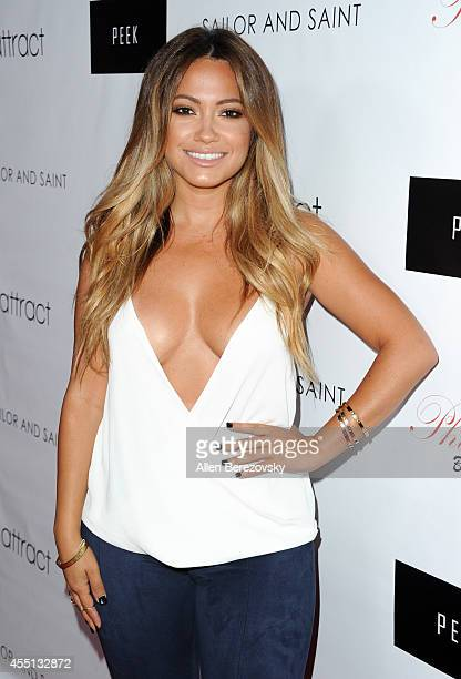 Actress and cover girl Jessica Burciaga attends the Attract Magazine launch party at Phillipe Chow on September 9, 2014 in Los Angeles, California.