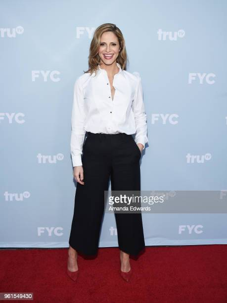 Actress and creator Andrea Savage arrives at truTV's offical FYC event for 'At Home With Amy Sedaris' and Andrea Savage's 'I'm Sorry' at NeueHouse...