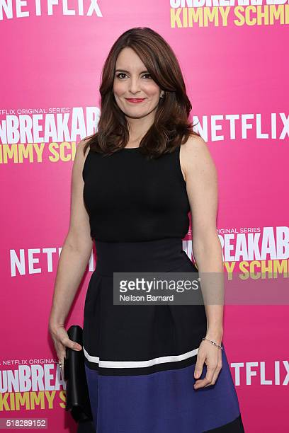 Actress and creator Tina Fey attends the 'Unbreakable Kimmy Schmidt' Season 2 world premiere at SVA Theatre on March 30 2016 in New York City