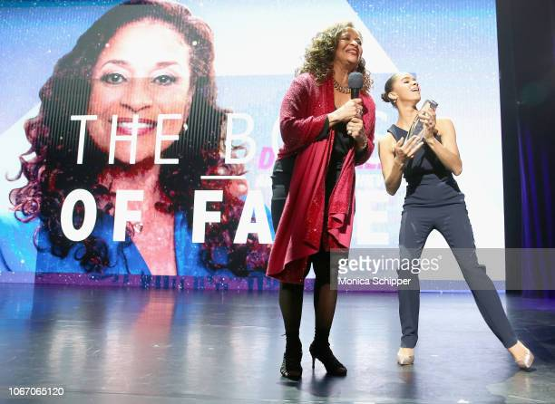 Actress and dancer Debbie Allen, and Dancer Misty Copeland speak onstage during AHF and Debbie Allen Present Keeping the Promise-1 000 Lives In Care:...