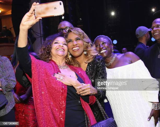 Actress and dancer Debbie Allen singer Jennifer Holliday and actress and dancer Eartha Robinson attend AHF and Debbie Allen Present Keeping the...