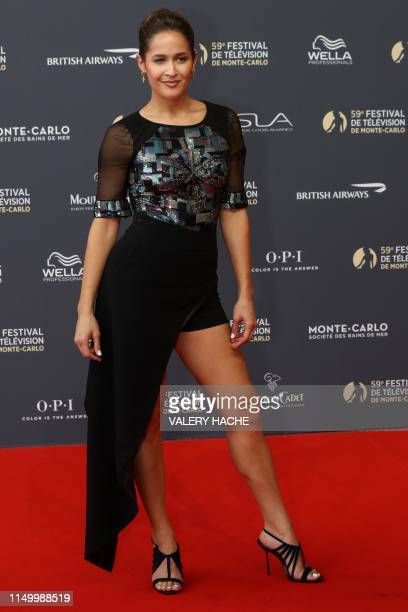 US actress and dancer Jaina Lee Ortiz poses for a photocall during the 59th MonteCarlo Television Festival in Monaco on June 14 2019