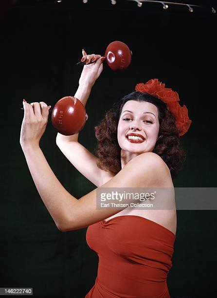 Actress and dancer Rita Hayworth poses for a portrait circa 1940 in Los Angeles California