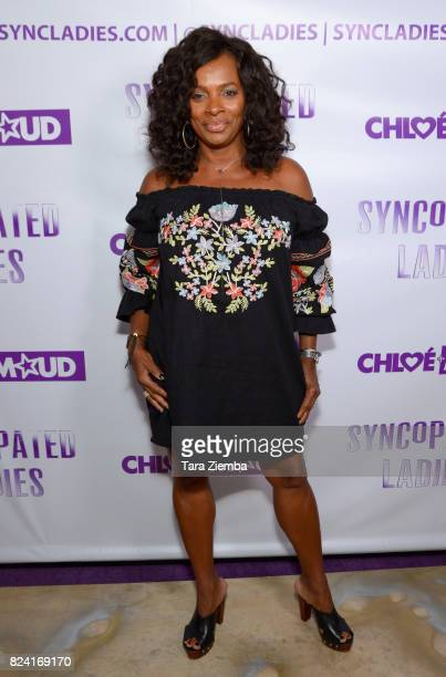 Actress and dancer Vanessa Bell Calloway arrives at Chloe Arnold's Syncopated Ladies LA concert premiere at John Anson Ford Amphitheatre on July 28...