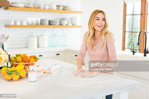 Actress and designer Lauren Conrad is photographed in her home for People Magazine on March 16 2016 in Los Angeles California PUBLISHED IMAGE