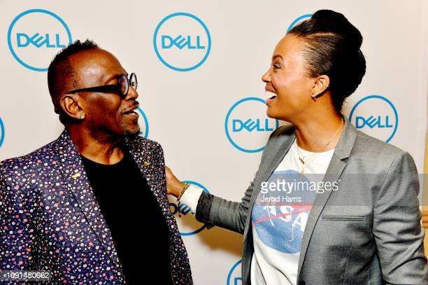 Actress and director Aisha Tyler and Randy Jackson help Dell kick off CES 2019 at their press conference unveiling their latest lineup of award...
