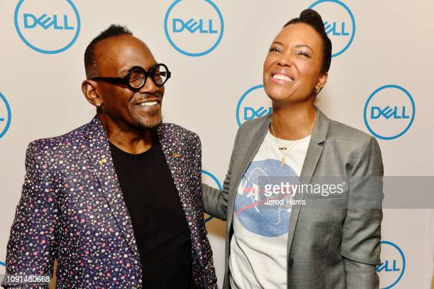 Actress and director, Aisha Tyler, and Randy Jackson help Dell kick off CES 2019 at their press conference unveiling their latest line-up of award...