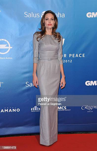 Actress and director Angelina Jolie attends the Cinema for Peace Gala at the Konzerthaus Am Gendarmenmarkt during day five of the 62nd Berlin...