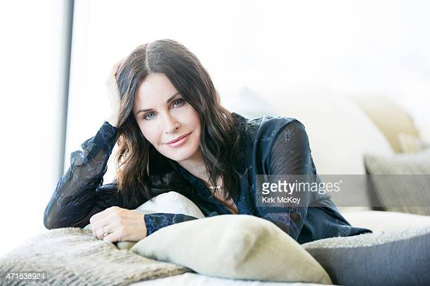 LOS ANGELES CA APRIL 13 2015 Actress and director Courteney Cox is photographed for Los Angeles Times on April 13 2015 in Los Angeles California...