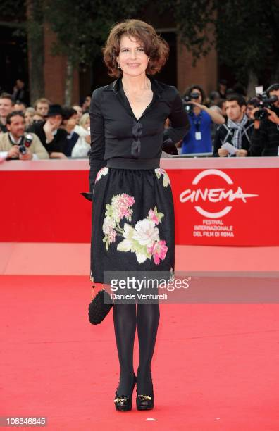 Actress and director Fanny Ardant attends the 'Chimeres Absentes' Premiere during the 5th International Rome Film Festival at Auditorium Parco Della...