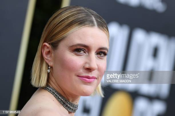 US actress and director Greta Gerwig arrives for the 77th annual Golden Globe Awards on January 5 at The Beverly Hilton hotel in Beverly Hills...