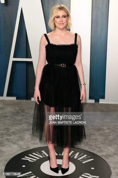 Actress and director Greta Gerwig attends the 2020 Vanity Fair Oscar Party following the 92nd annual Oscars at The Wallis Annenberg Center for the...